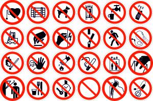 Таблички запрещающие