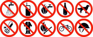 Знаки запрещающие разные