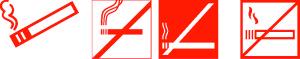 таблички запрета курения