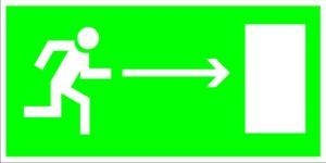Е03 Направление к эвакуационному (справа)