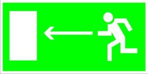 Е04 Направление к эвакуационному (слева)