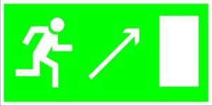 Е05 Направление к эвакуационному (справа вверху)