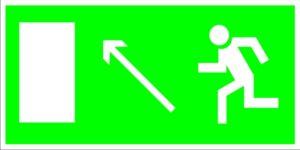 Е06 Направление к эвакуационному (слева вверху)