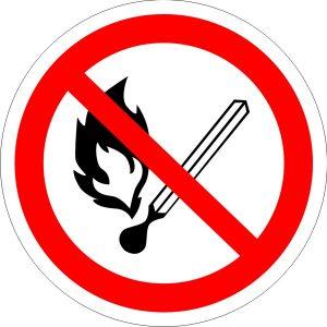 Р02 Запрещается пользоваться открытым огнем